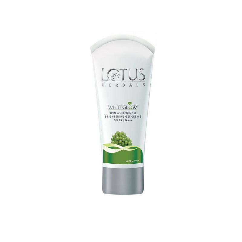 Lotus Herbals Skin Whitening and Brightening Gel Creme SPF 25 White Glow, 18g