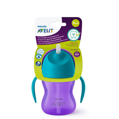 Philips Avent Bendy Straw Cup 9M+ Purple - 200 ml