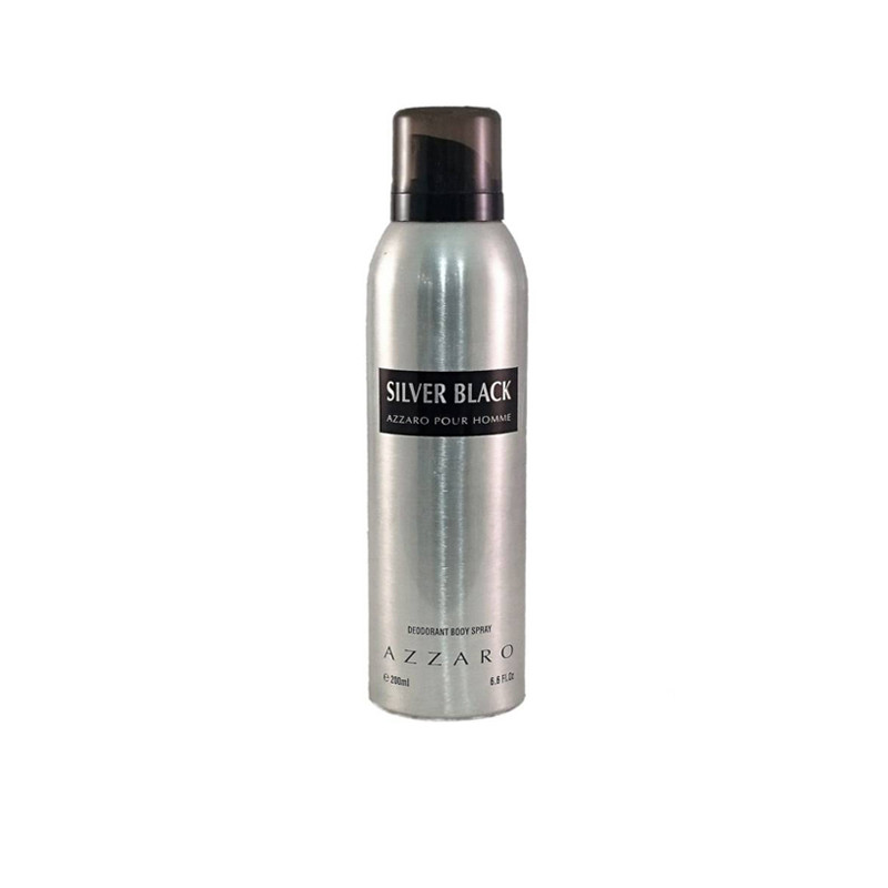 Azzaro Silver Black Deodorant Spray - For Men  (200 ml)
