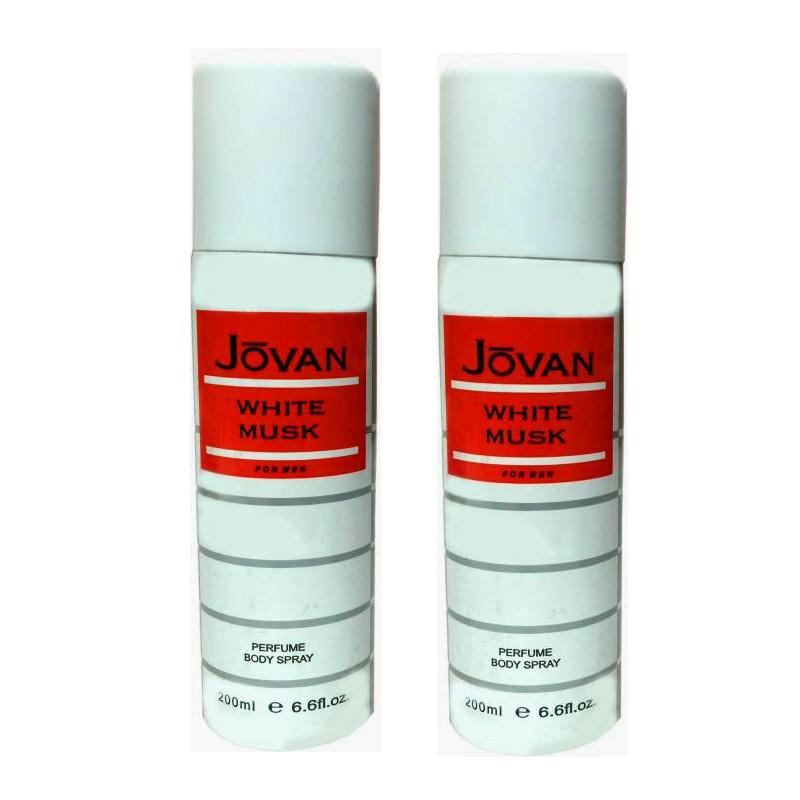 Jovan White Musk Deodorant 200Ml (Pack Of 2)