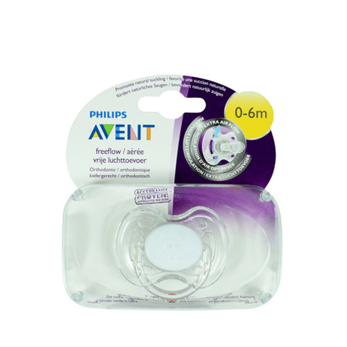 Philips Avent Freeflow Pacifiers Soother 0-6M White