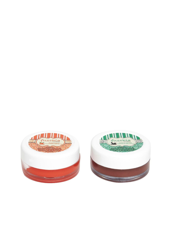 Fuschia – Peach & Choco Butter Lip Balm Combo 16gm
