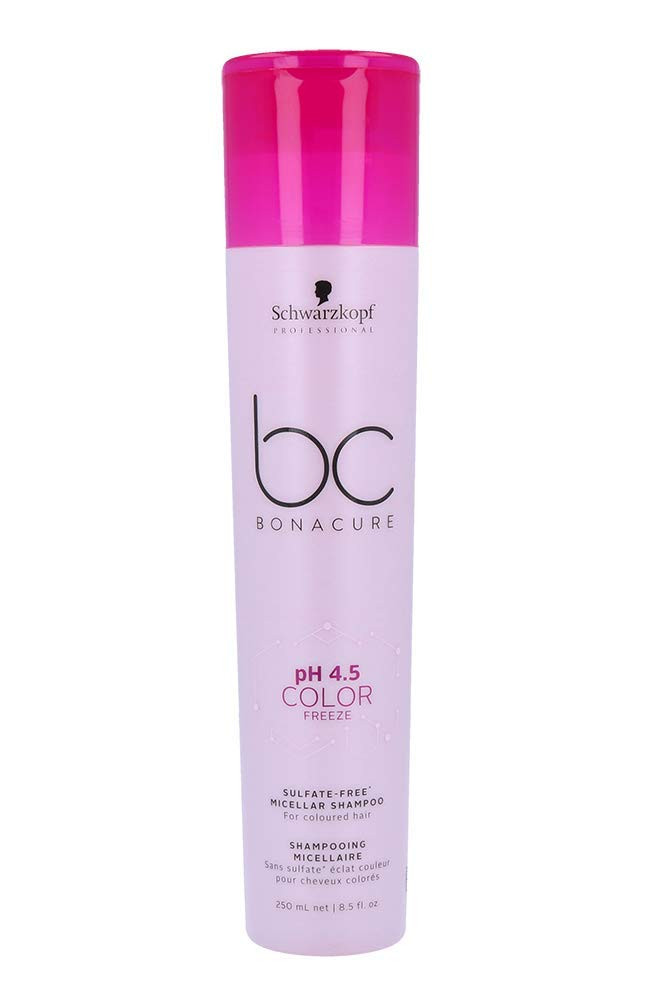 Schwarzkopf Professional BC pH4.5 Color Freeze Sulfate Free Shampoo, Pink, 250 ml