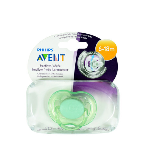 Philips Avent Freeflow Pacifiers Soother 6-18m Green