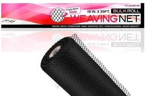 "Magic Collection Bulk Roll Weaving Net Black 19"" X 33'"