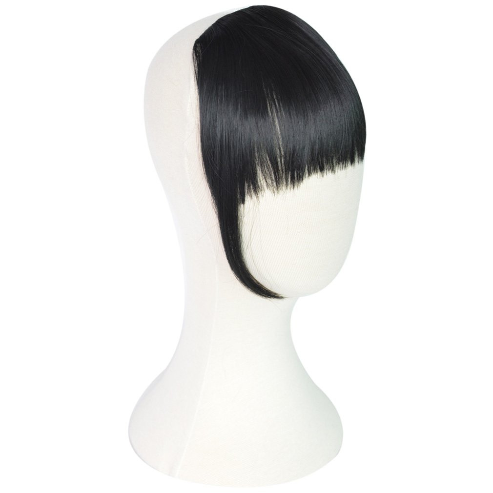 Style 1 , Black : REECHO Fashion One Piece Clip in Hair Bangs / Fringe / Hair Extensions Color: Black