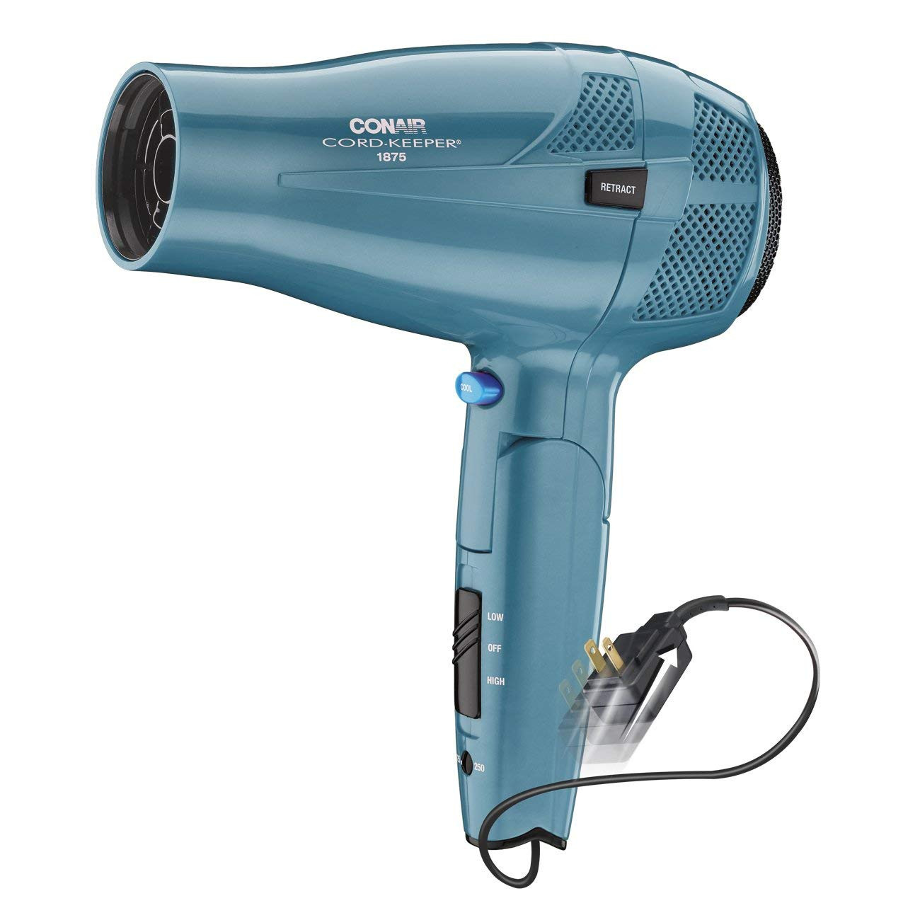 CONAIR 289NX 1,875-Watt Cord-Keeper Folding Dryer