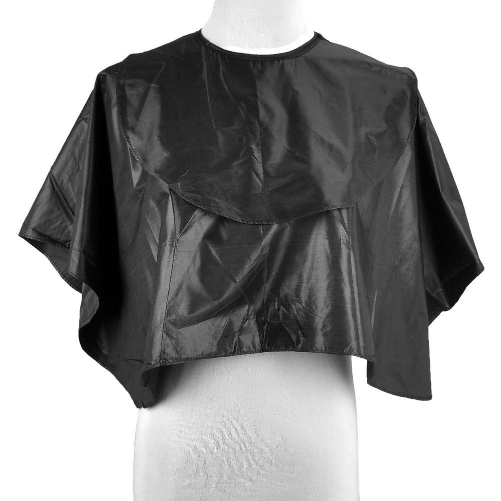 CCbeauty Waterproof Short Hair Cutting Cape Gown Hair Salong Dye Perm Cloth Black #1