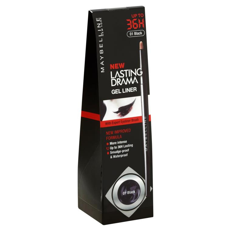 Maybelline New York New Lasting Drama Gel Liner 36H (01 black) 2.5g