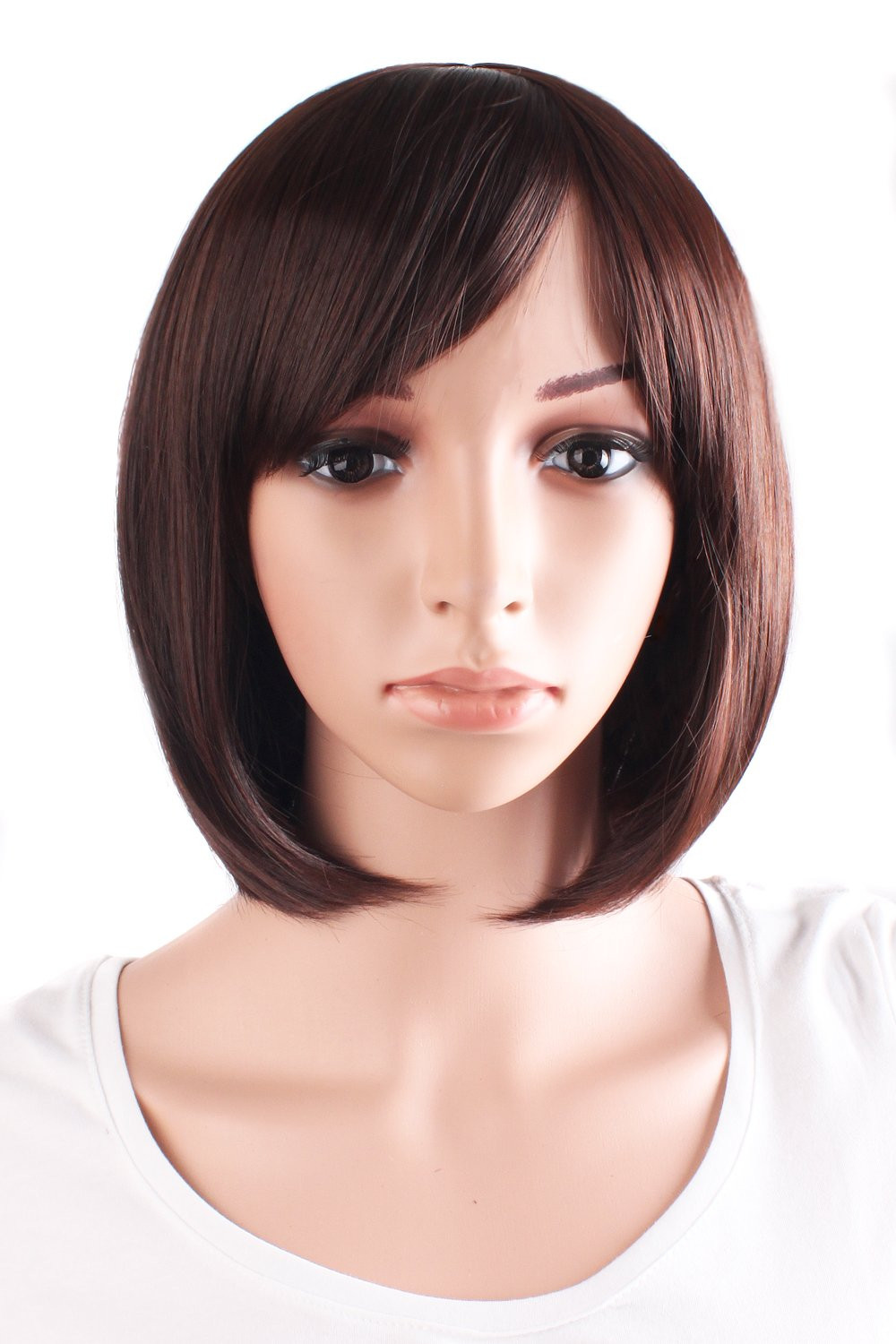 """MapofBeauty 30cm/12"""" Synthetic Straight Wig (Dark Brown)"""