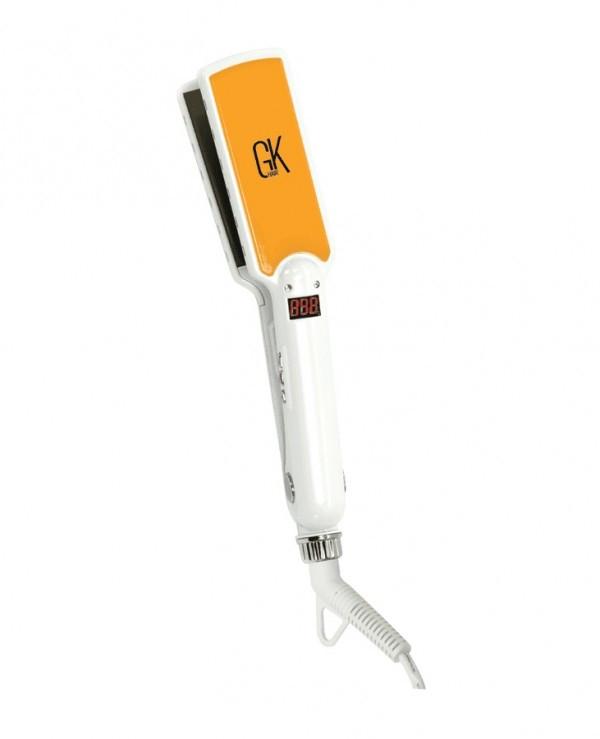 Global Keratin GK Curve Titanium 1.5 Flat Iron (White & Yellow)