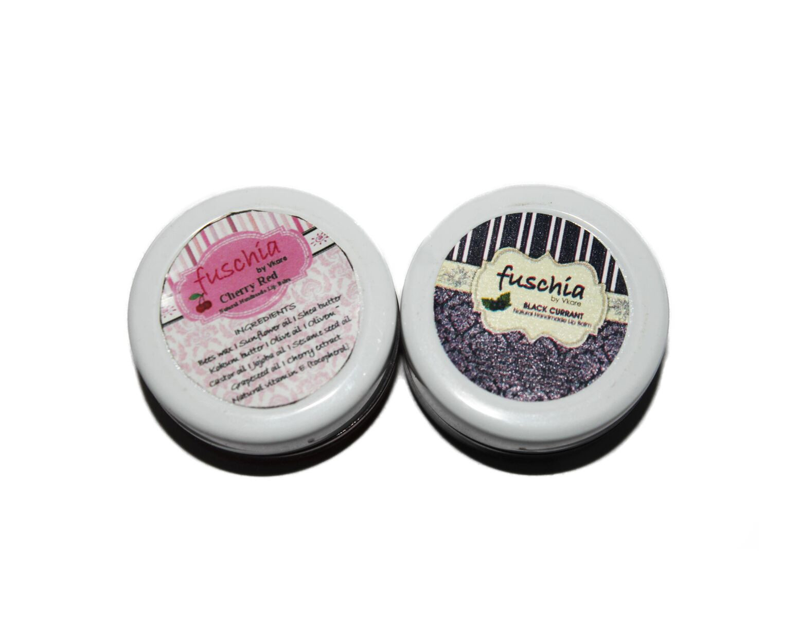 Fuschia – Cherry Red & Black Currant Lip Balm Combo 16gm