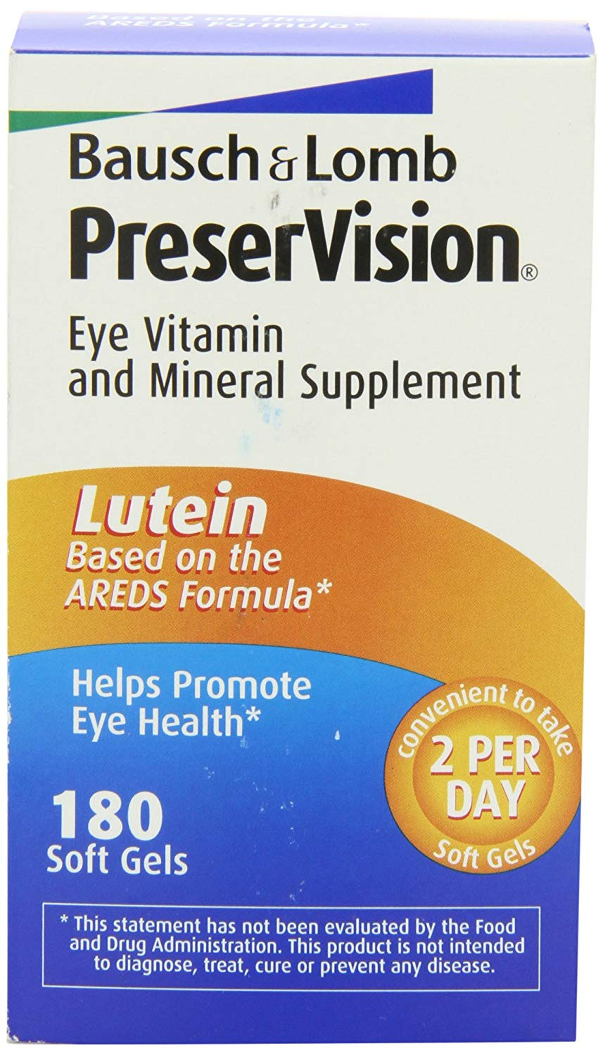 Bausch & Lomb Preservision Eye Vitamin and Mineral Supplement with Lutein - 180 Softgels