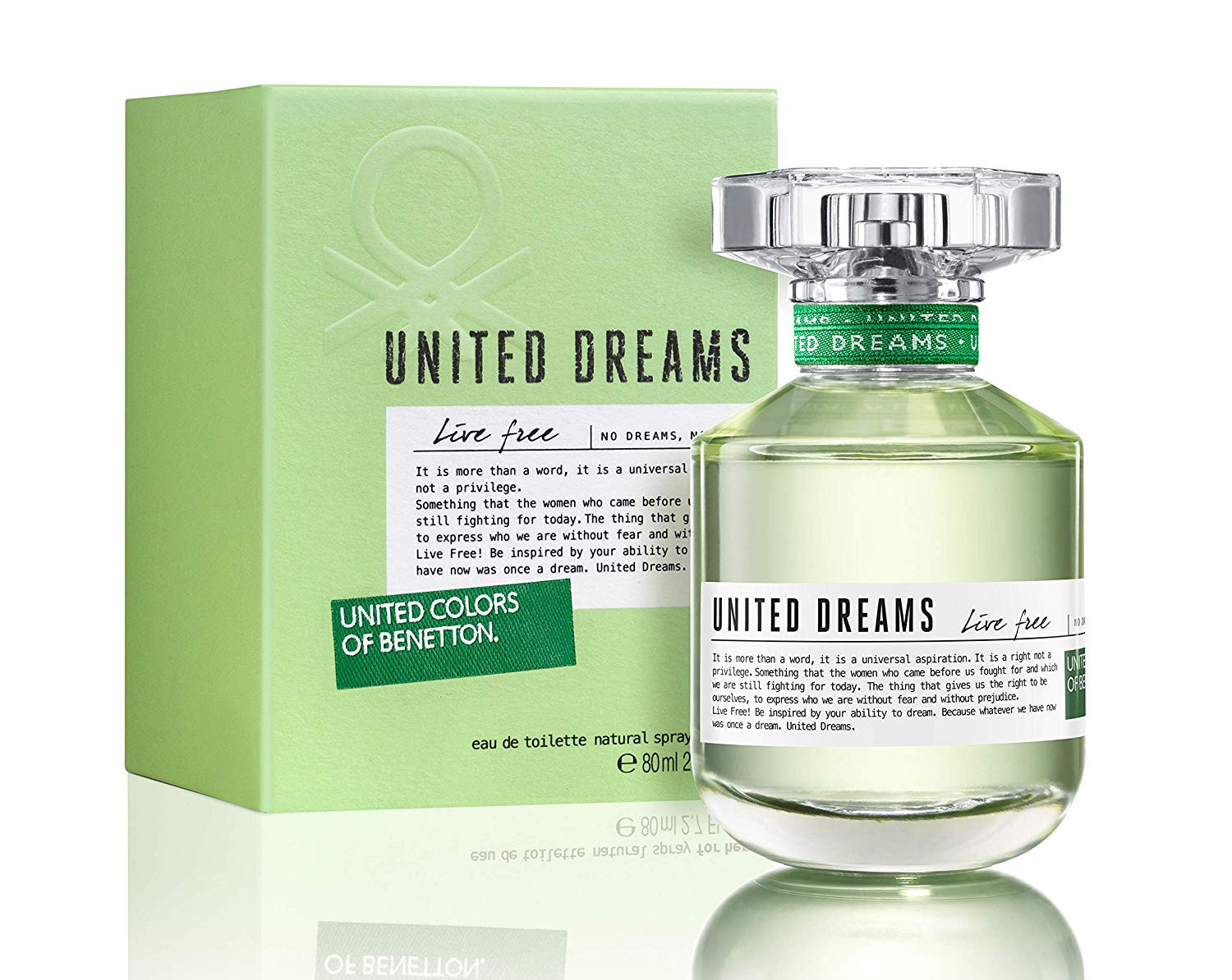 United Colors of Benetton United Dreams Live Free EDT Perfume For Women-80Ml