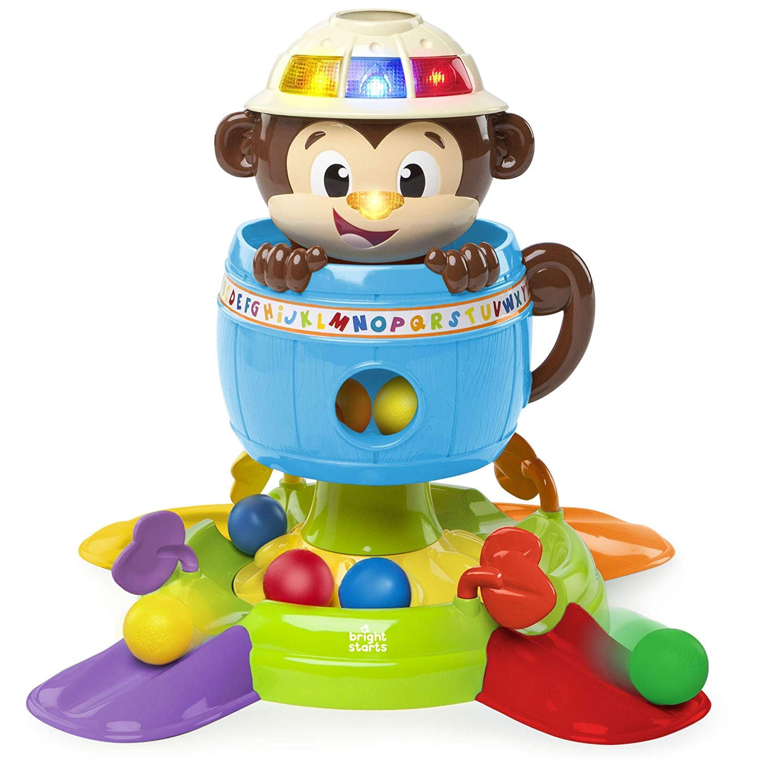 Bright Starts Baby Toy, Hide n Spin Monkey