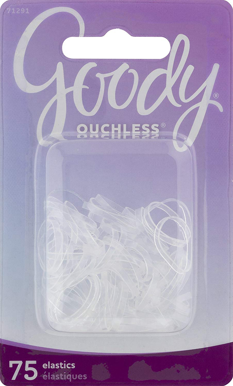 Goody Classics Elastic, Mini Polybands Crystal Clear, 75 Count