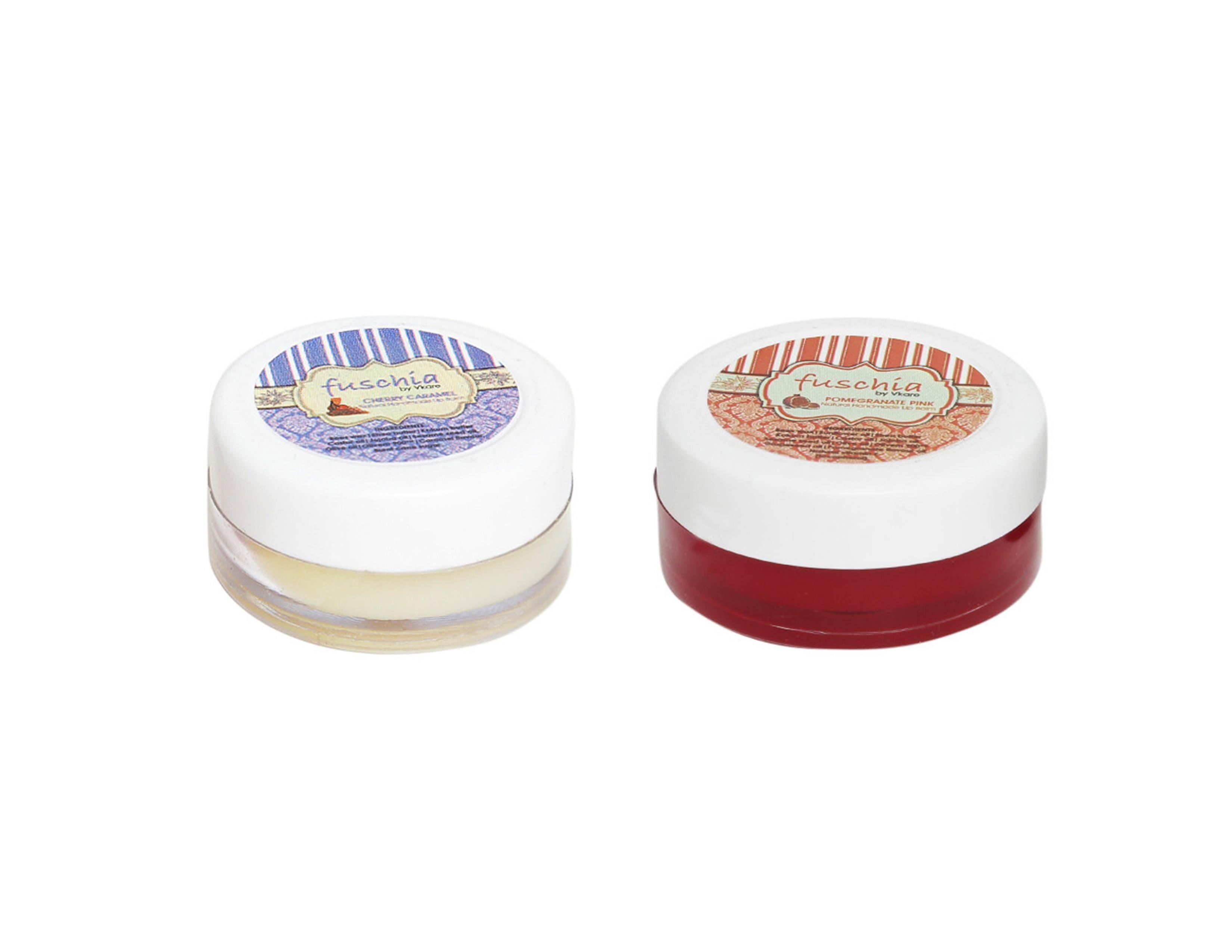 Fuschia – Caramel & Pomegranate Lip Balm Combo 16gm