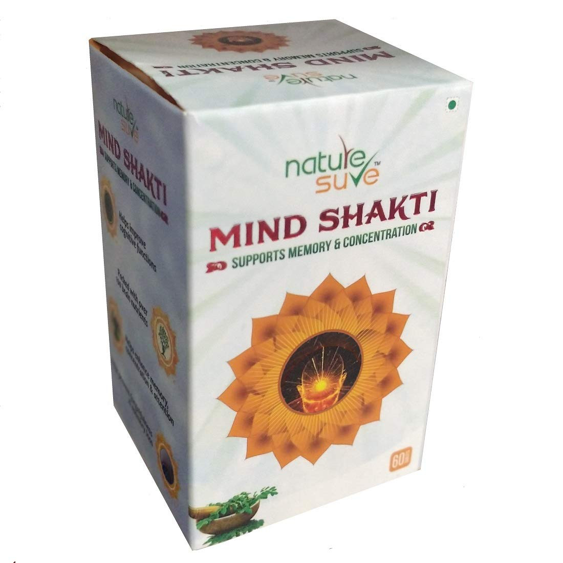 Nature Sure™ Mind Shakti Tablets - for Memory and Concentration - 1 Pack (60 Tablets)