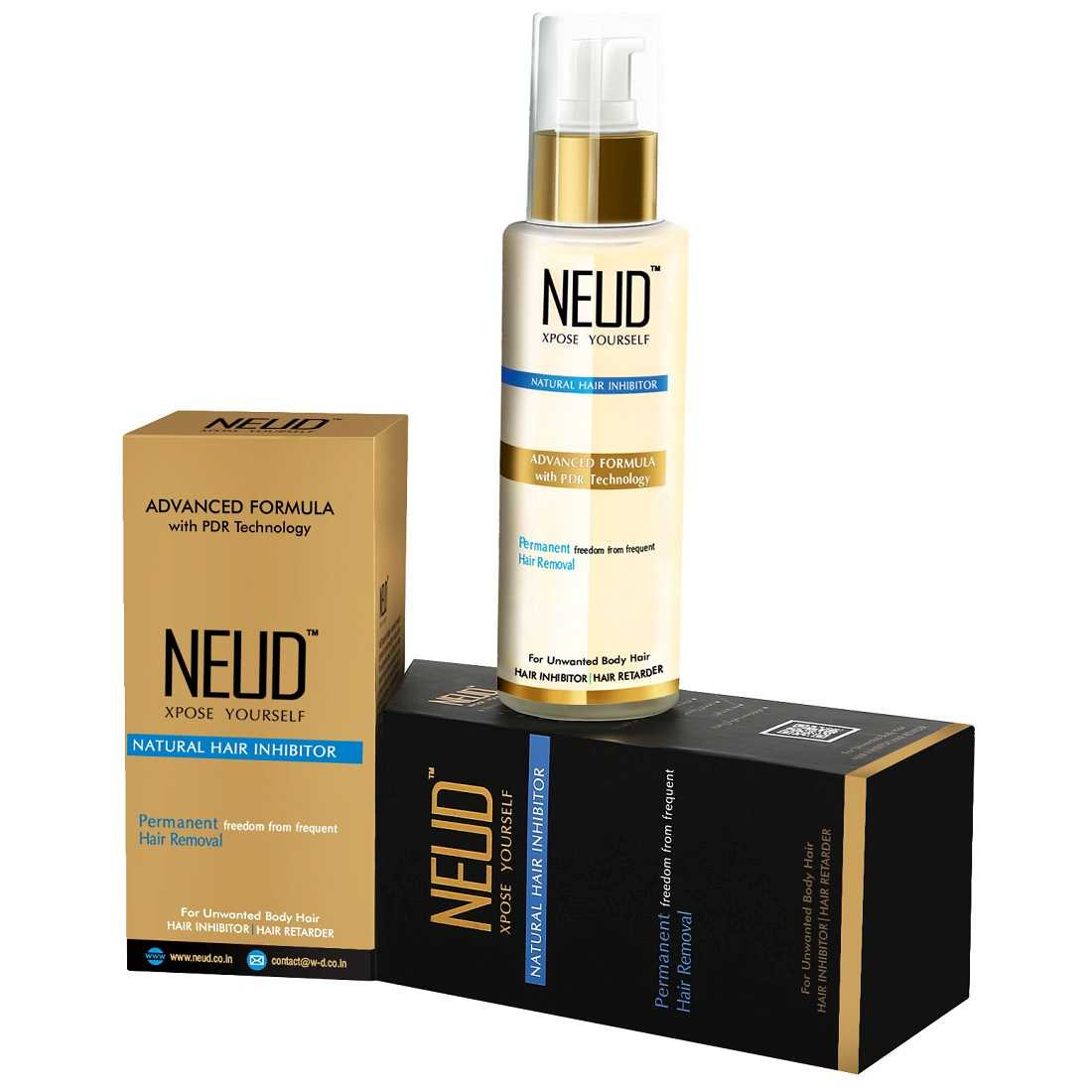NEUD Natural Hair Inhibitor for Men & Women – 1 Pack (80g)