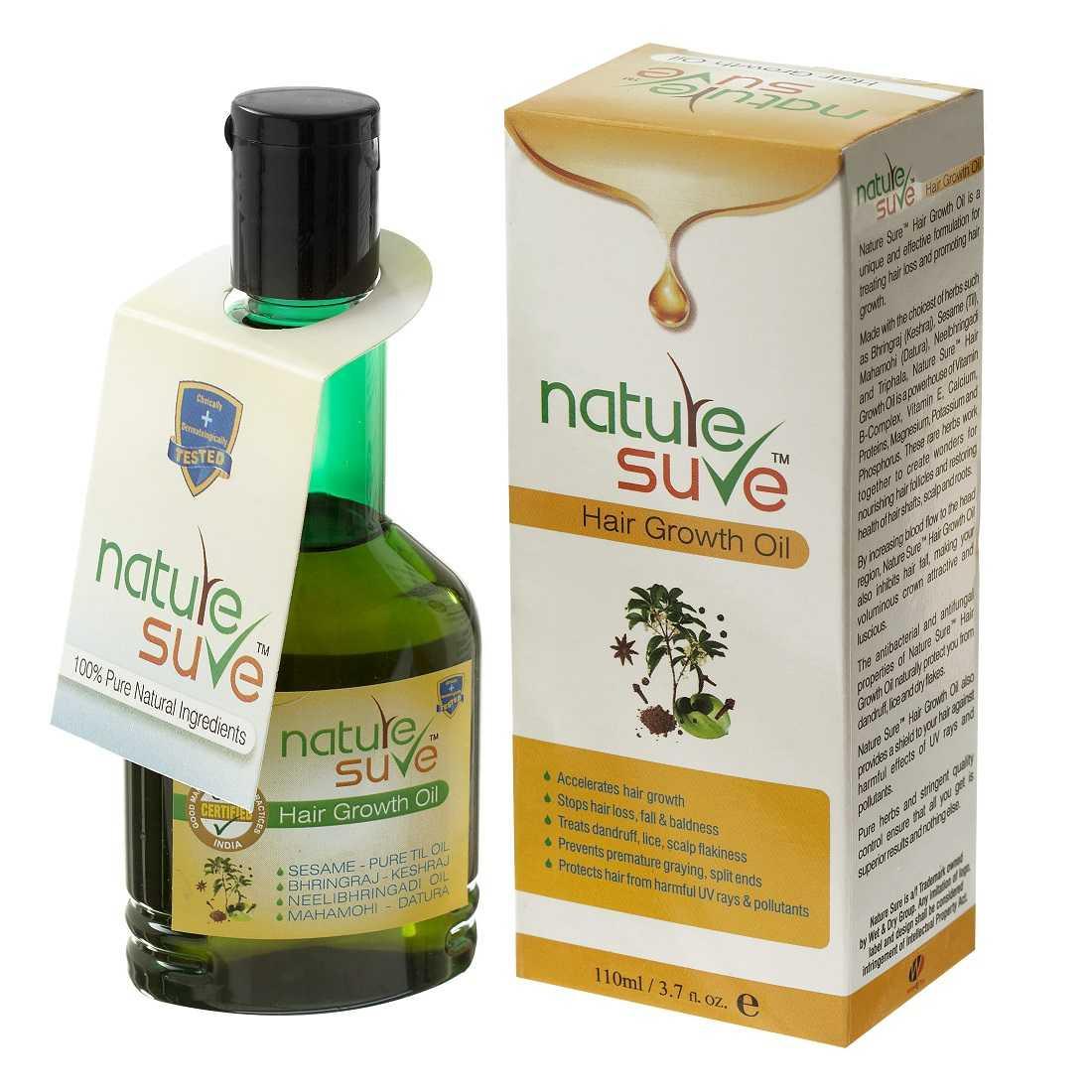 Nature Sure™ Hair Growth Oil - For Hair Fall, Hair Loss, Dandruff, Graying, Split-Ends