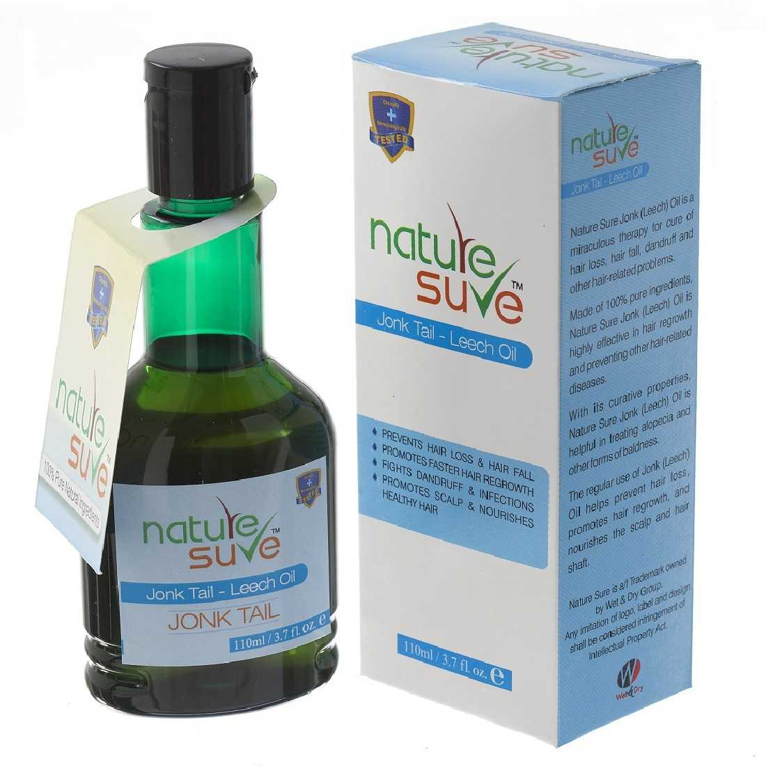 Nature Sure™ Jonk Tail (Leech Oil) 110ml – for Hair Problems in Men and Women