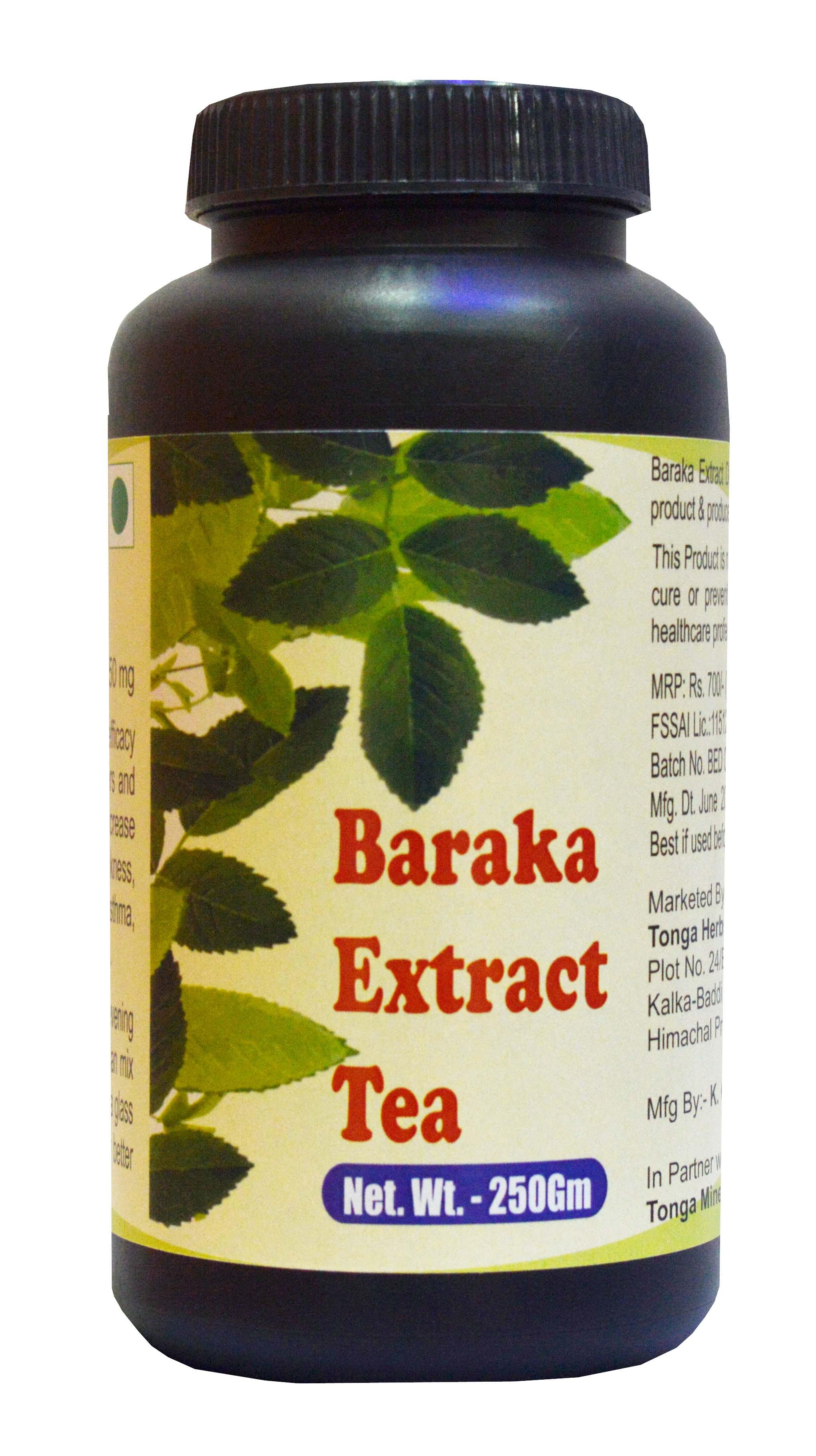 Tonga Herbs Baraka Extract Tea - 250 Gm (Buy Any Supplement Get The Same 60ml Drops Free)
