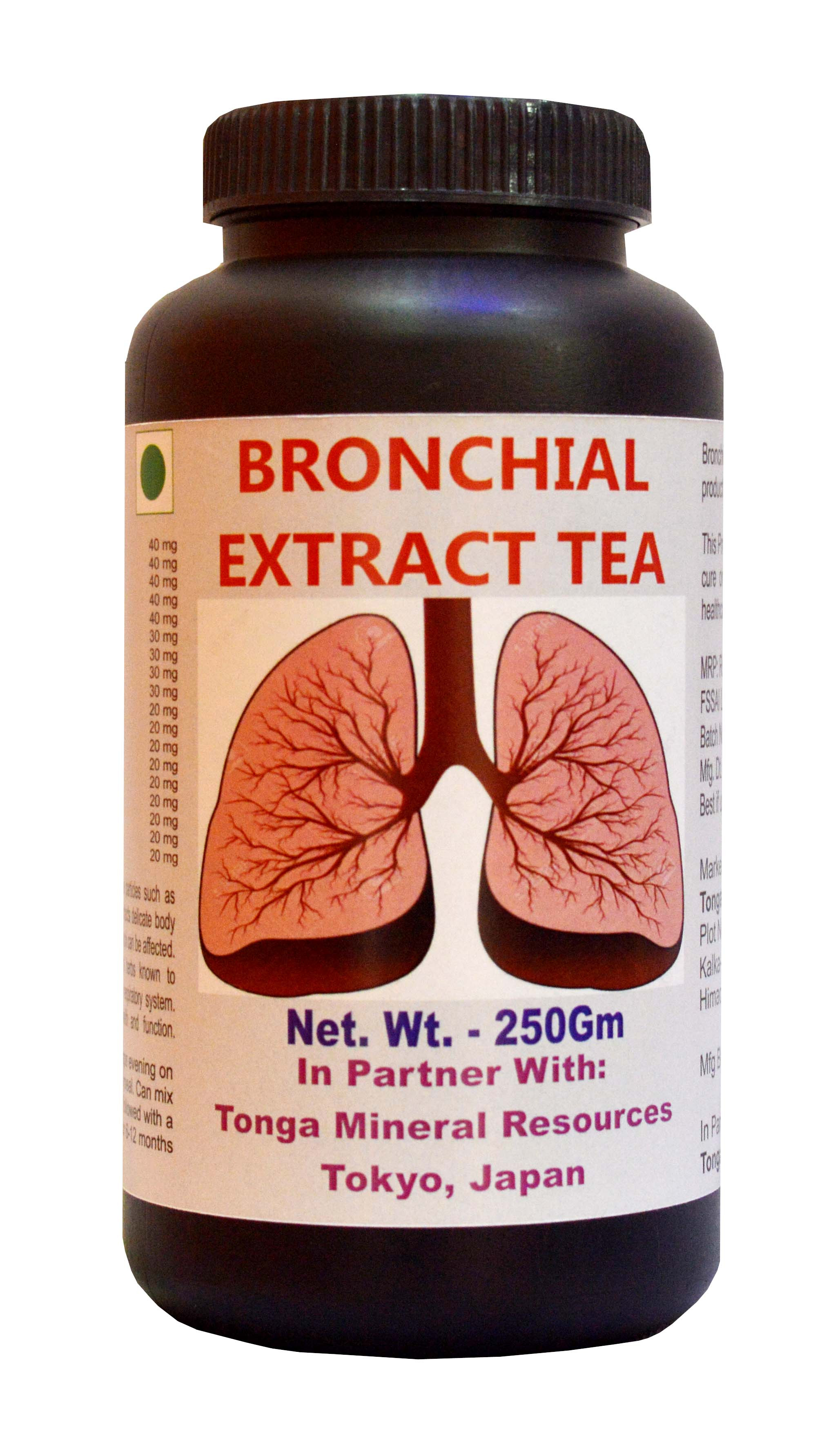 Tonga Herbs Bronchial Extract Tea - 250 Gm (Buy Any Supplement Get The Same 60ml Drops Free)