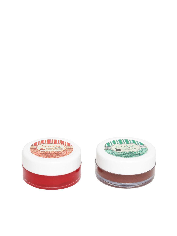 Fuschia – Pomegranate & Choco Butter Lip Balm Combo 16gm