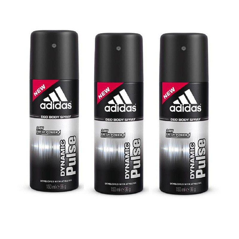 Adidas Dynamic Pulse Deodorant Body Spray Pack of 3 (150ML each) Combo Deodorant Spray - For Men