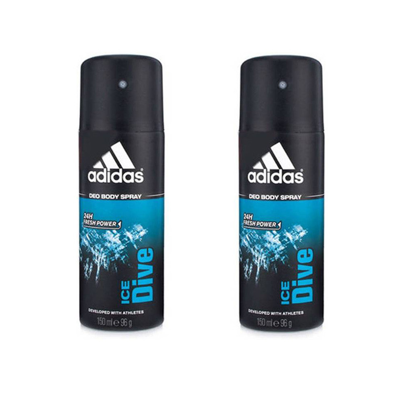 Adidas Ice dive Deodorant Spray - (150ml, Pack of 2)
