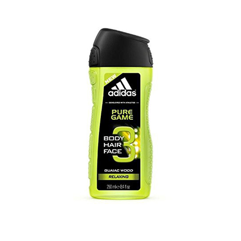 Adidas Pure Game 3in1 Body, Hair and Face Shower Gel, 250ml