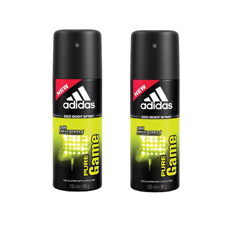 Adidas pure game Deodorant Spray - For Men  (150 ml, Pack of 2)