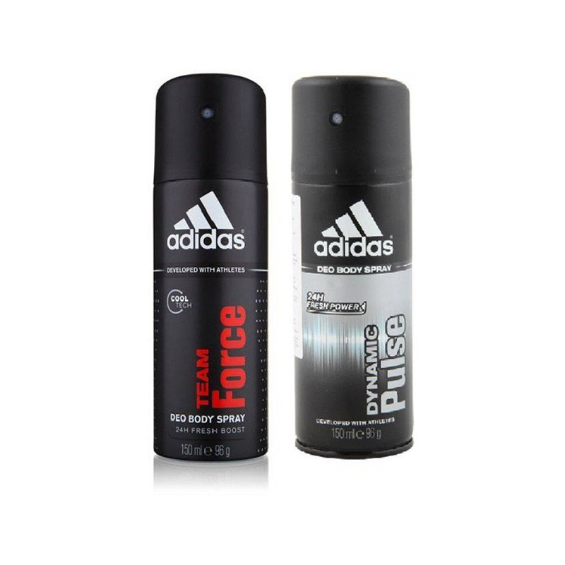 Adidas team force, pulse Deodorant Spray - For Men & Women  (150ml, Pack of 2)