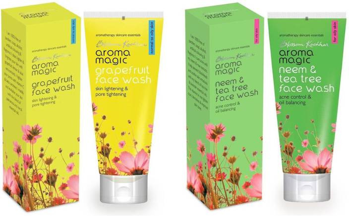 Aroma Magic Grape Fruit & Neem And Tea Tree Pack of 2 Face Wash