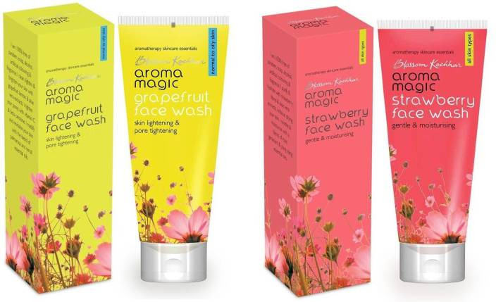 Aroma Magic Grape Fruit ,Strawberry Pack of 2 Face Wash
