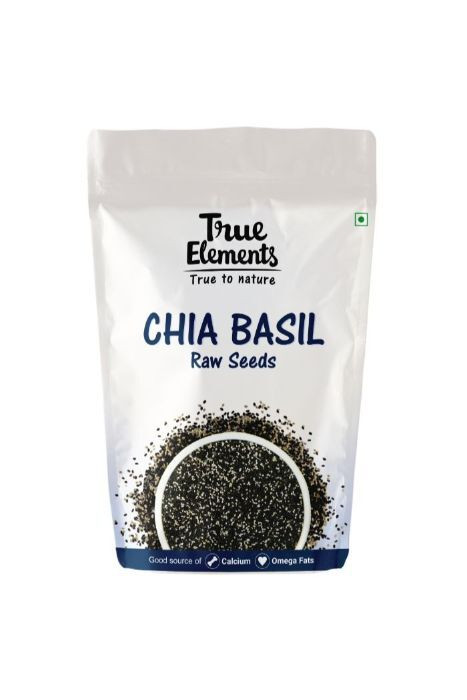 True Elements Raw Chia Basil Seeds 500gm