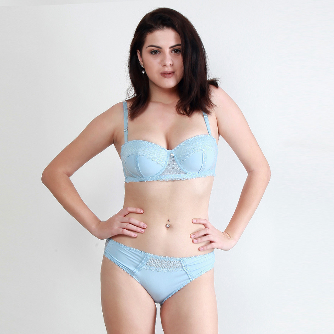 Makclan Lusty Wicked Blue Mist Lingerie Set