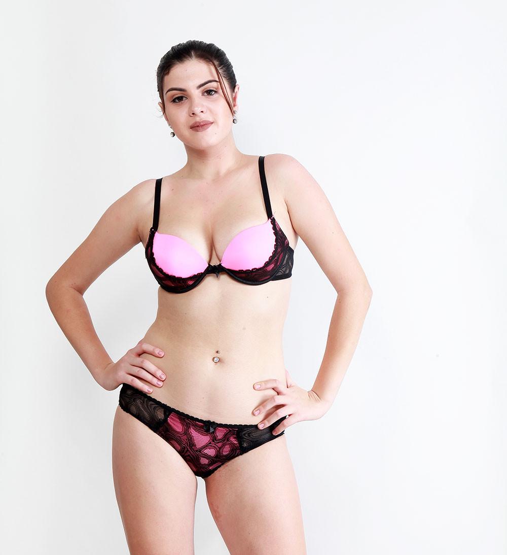 Makclan Zesty Tango 2Tone Bubblegum Pink Lingerie Set