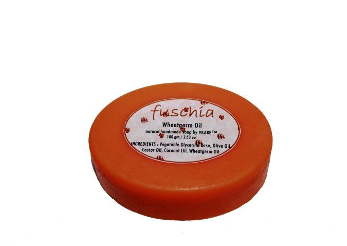 Fuschia - Wheatgerm Oil Natural Handmade Herbal Soap 100gm