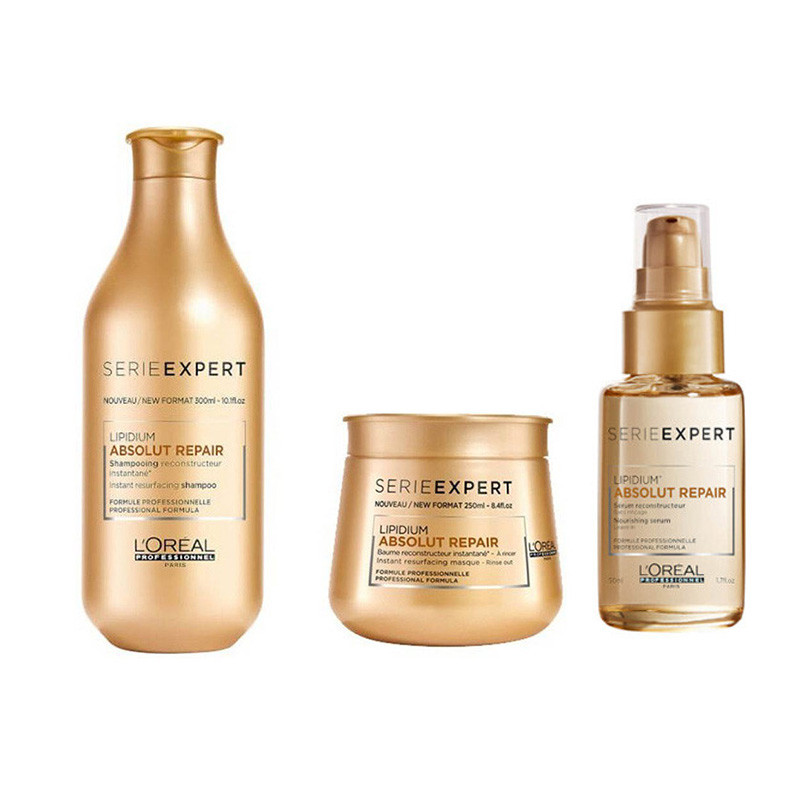 L'Oreal Professionnel Series Expert Absolute Repair Lipidium Shampoo 300ml & Masque 250ml & serum 50ml