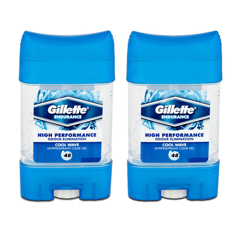Gillette Imported Cool Wave Clear Gel Deodorant Stick - For Men (70Ml-Pack of 2)
