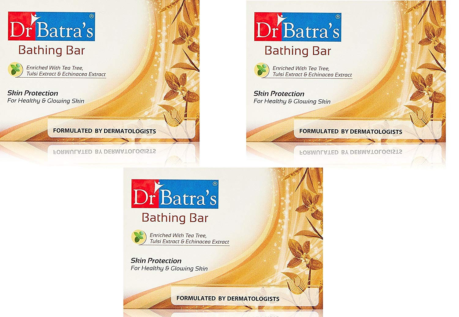 Dr Batras Skin Protection Bathing Bar (pack of 3 ) 125g each