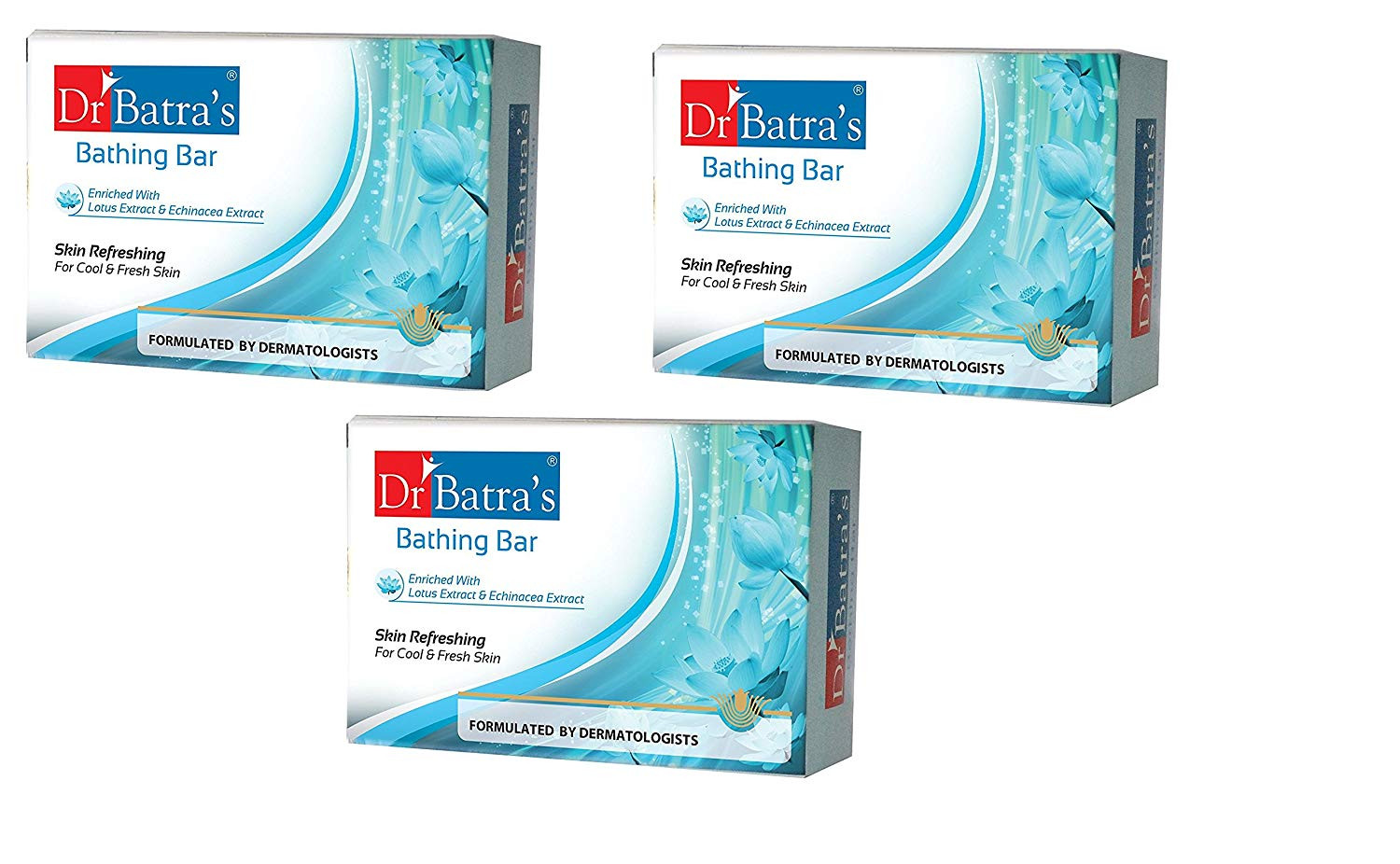 Dr Batras Skin Refreshing Bathing Bar, 125g - (PACK OF 3)