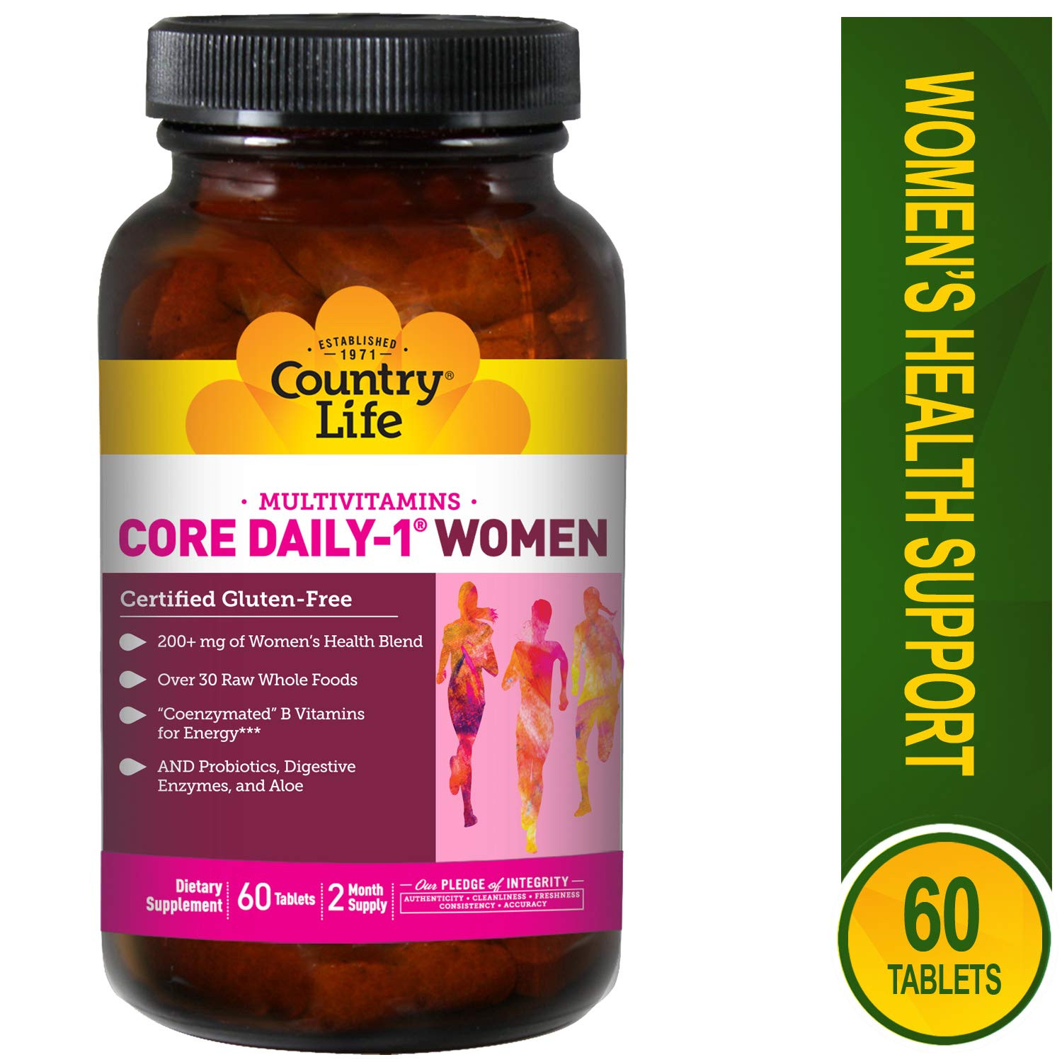 Country Life, Core Daily-1 Multivitamins, Women, 60 Tablets CLF-08192
