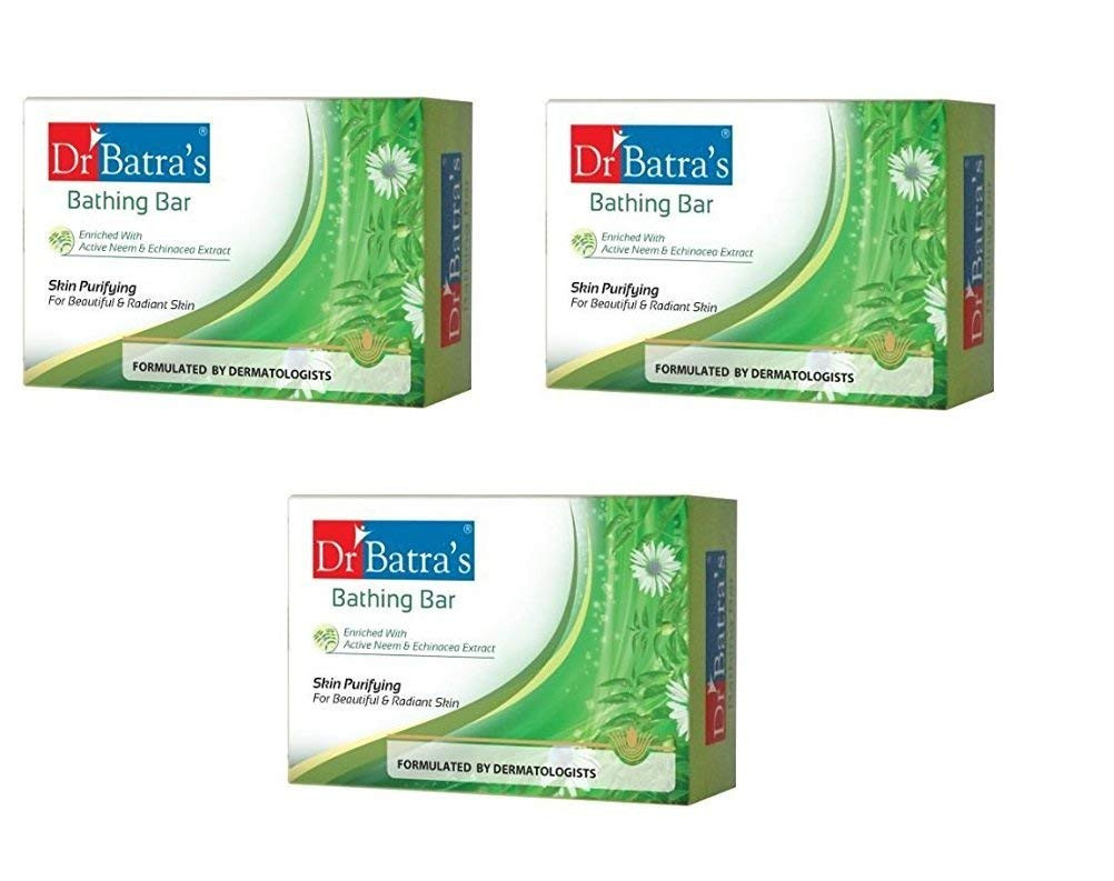 Dr Batras Skin Purifying Bathing Bar, 75g (PACK OF 3)
