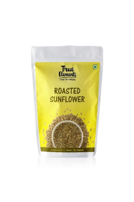 True Elements Roasted Sunflower Pumpkin And Flax Seeds 500gm