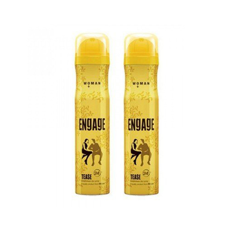 Engage Tease Deodorant Spray Pack of 2 (150ml each) Deodorant Spray - For Women