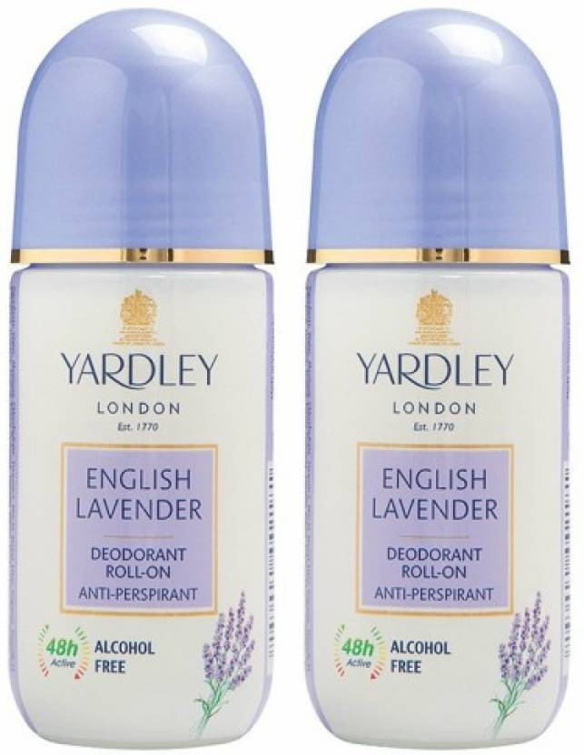 English Lavender and London Rose Roll on (50 ml, Pack of 2) For Women