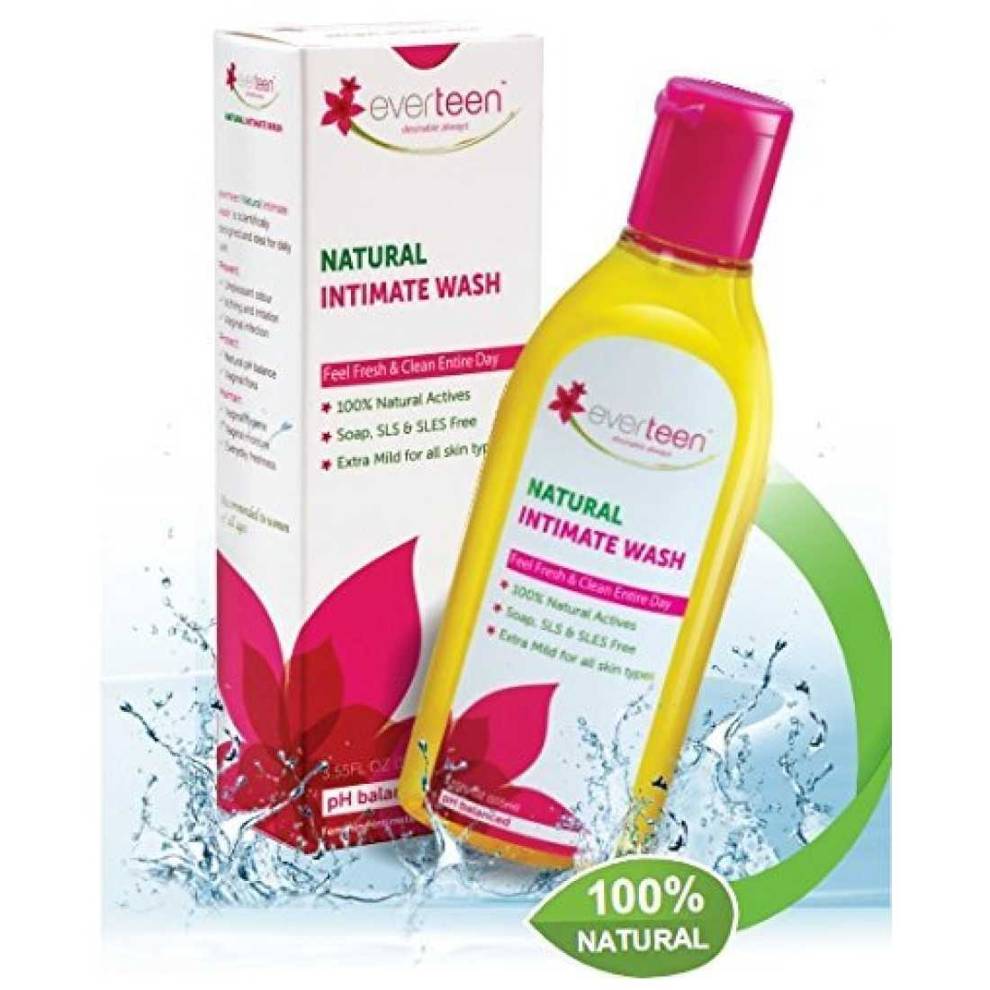 everteen Natural Intimate Wash for Women - 1 Pack (105ml)