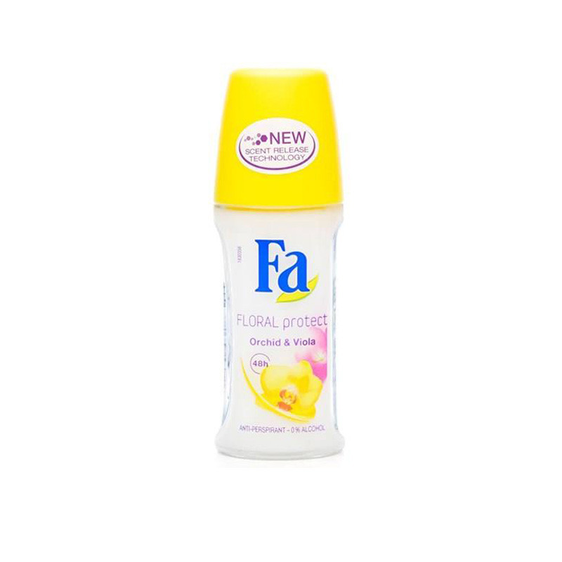Fa Imported Floral Protect Orchid & Viola Anti-Perspirant Roll On - For Men & Women  (50 ml)